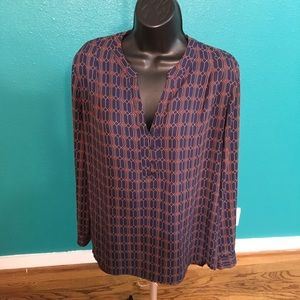 Pleione long sleeve blouse size M
